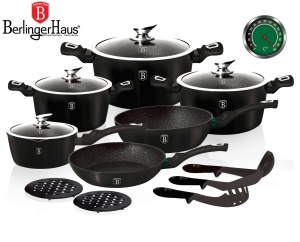 Cookware Set BERLINGER HAUS METALLIC LINE THERMOGUARD 15 pcs [BH-1474-N]