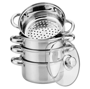 Cookware Set for steam cooking / Steamer 13L 5 pcs 22cm HOFFNER [HF-9225]