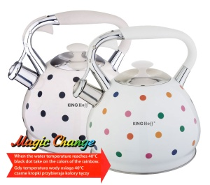 Stainless Steel Whistling Kettle MAGIC CHANGE 2.8L KINGHOFF [KH-1065]