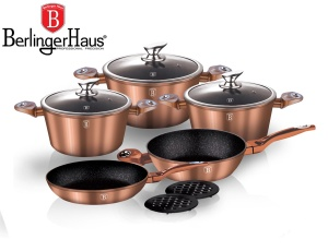 Cookware Set BERLINGER HAUS METALLIC LINE COPPER 10 pcs [BH-1220]