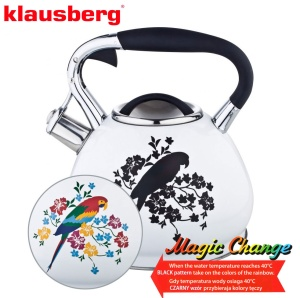 Stainless Steel Whistling Kettle MAGIC CHANGE 2.7L KLAUSBERG [KB-7251]