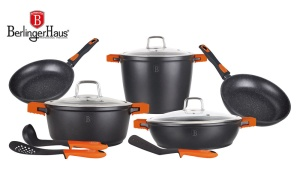 Cookware Set BERLINGER HAUS GRANIT DIAMOND 11 pcs [BH-1117]