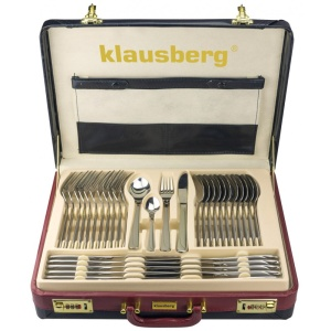 72 pcs Stainless Steel Cutlery Set Silver Glossy 12 person KLAUSBERG [KB-7255]