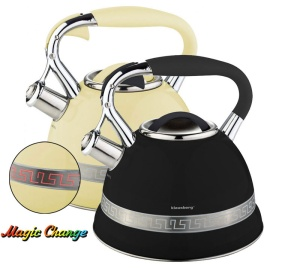 Stainless Steel Whistling Kettle KLAUSBERG MAGIC CHANGE 2.7L KB-7246