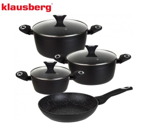 Cookware Set with non-stick Granite coating MARMO 7 pcs KLAUSBERG [KB-7243]
