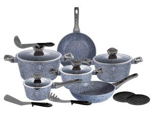Cookware Set BERLINGER HAUS FOREST SMOKED 15 pcs [BH-1578]