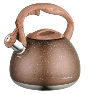 Whistling Kettle 2.8L with Marble imitation coating KLAUSBERG KB-7396