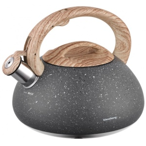 Whistling Kettle 2.7L with Marble imitation coating KLAUSBERG KB-7250