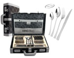 72 pcs Stainless Steel Cutlery Set Silver Glossy 12 person KINGHOFF KH-3541
