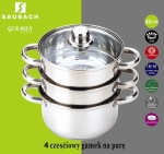 Cookware Set for steam cooking / Steamer 4 pcs 20cm SAUBACH [SB-2582]
