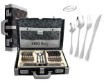 72 pcs Stainless Steel Cutlery Set Silver Glossy 12 person KINGHOFF KH-3544
