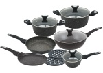Cookware Set with non-stick Granite coating 12 pcs KLAUSBERG Marmo Gold [KB-7201]