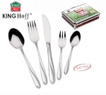 72 pcs Stainless Steel Cutlery Set Silver Satin 12 person KINGHOFF KH-3557