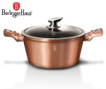 GARNEK 4.5L 24CM BERLINGER HAUS METALLIC LINE ROSE GOLD [BH-1515-N]