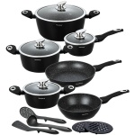 15 pcs Cookware Set with non-stick Granite coating  KLAUSBERG Marmo [KB-7322]