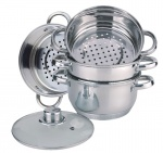 Cookware Set for steam cooking / Steamer 5 pcs 20cm EDENBERG [EB-8905]
