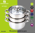 Cookware Set for steam cooking / Steamer 4 pcs 24cm SAUBACH [SB-2555]