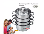 Cookware Set for steam cooking / Steamer 5 pcs 18cm SAUBACH [SB-2551]