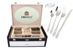 72 pcs Stainless Steel Cutlery Set Silver Glossy 12 person KINGHOFF KH-3547