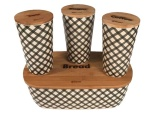 Bread box with cutting board and 3 kitchen containers Kassel 93504-554