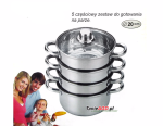 Cookware Set for steam cooking / Steamer 5 pcs 20cm SAUBACH [SB-2552}