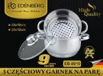 Cookware Set for steam cooking / Steamer 3 pcs 20cm EDENBERG [EB-8910]