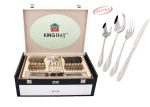 72 pcs Stainless Steel Cutlery Set Silver Satin 12 person KINGHOFF KH-3578