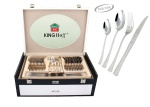 72 pcs Stainless Steel Cutlery Set Silver Glossy 12 person KINGHOFF KH-3546