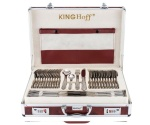 72 pcs Stainless Steel Cutlery Set Silver Satin 12 person KINGHOFF KH-3558