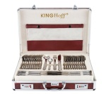 72 pcs Stainless Steel Cutlery Set Silver Satin 12 person KINGHOFF KH-3563