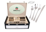 72 pcs Stainless Steel Cutlery Set Silver Glossy 12 person KINGHOFF KH-3549