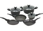Cookware Set with non-stick Granite coating 9 pcs KLAUSBERG Marmo Gold [KB-7200]