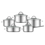 Cookware Set KASSEL ALICE 10 pcs 18/10 [no.93010]