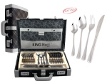 72 pcs Stainless Steel Cutlery Set Silver Satin 12 person KINGHOFF KH-3574