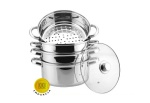 Cookware Set for steam cooking / Steamer 8.0L 5 pcs 18cm HOFFNER [HF-9185]