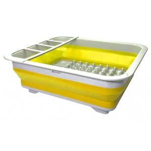 Silicone Drying Rack Dish Basket Dish Dryer Cutlery Yellow Kassel 93709