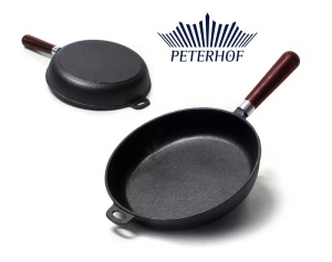 Cast Iron Frying Pan 26cm PETERHOF [PH-15358-26]