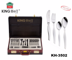 72 pcs Stainless Steel Cutlery Set Silver Glossy 12 person KINGHOFF KH-3502