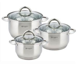 6 pcs Stainless Steel Cookware Set Pot Set EDEL HOFF EH-9020