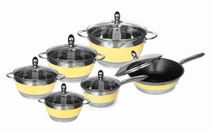 12-piece Cookware Set stainless steel EDEL HOFF ELEGANCE EH-9080