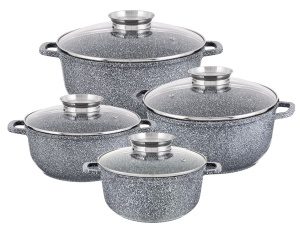 8 piece Cookware Set with a non-stick ceramic marble coating EDENBERG EB-8035
