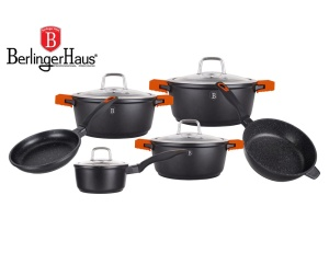 Cookware Set BERLINGER HAUS GRANIT DIAMOND 10 pcs [BH-1111]