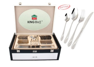 72 pcs Stainless Steel Cutlery Set Silver Satin 12 person KINGHOFF KH-3577