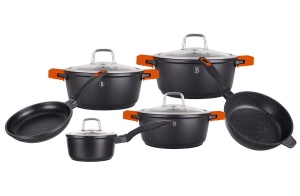 10 pcs Cookware Set Pot Set BERLINGER HAUS Granit Diamond Line BH-1111