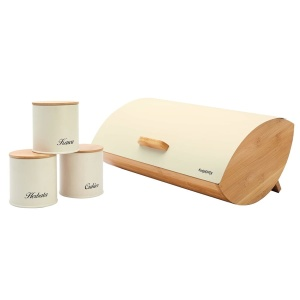 Bamboo Bread + 3 containers Bin Breat Box KonigHOFFER COSMIC TD-8318