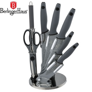Knive Set 8 pcs  BERLINGER HAUS GRAY GRANIT STONE TOUCH [BH-2116]