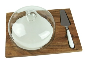 Accacia wood board for serving cheese cake HUSLA 73976