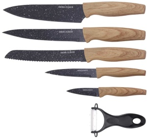 6 pcs Granite coated Knife Set SWISS ZURICH SZ-7347