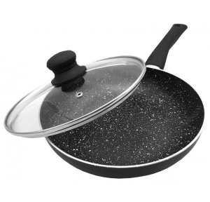 Marble-coated pan with lid 26cm KINGHOFF KH-3958