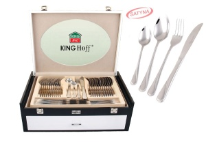 72 pcs Stainless Steel Cutlery Set Silver Satin 12 person KINGHOFF KH-3579